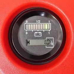 Compte-heures et niveau de la batterie