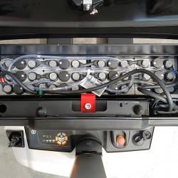 Compartiment batterie avec remplissage automatique