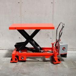 Table mobile avec ciseaux élévateurs électriques